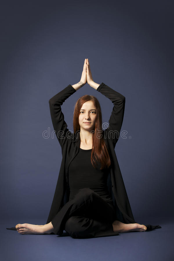 Download Lady in Siddhasana posture stock photo. Image of body - 13123262