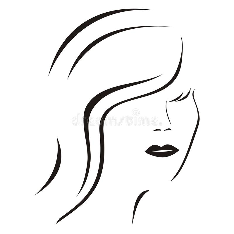 Lady - silhouette royalty free illustration