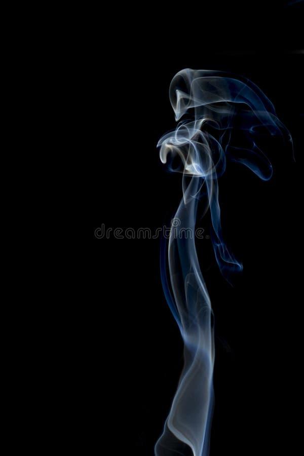 Lady smoke. Smoke lady shape on black background stock images