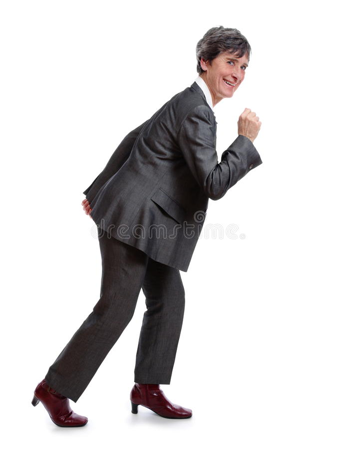 Lady Starting To Run Royalty Free Stock Photography