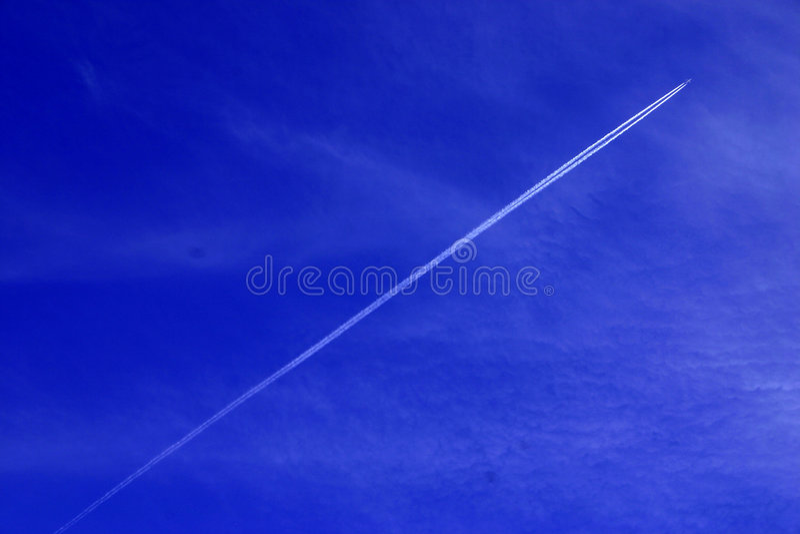 ślady Statków Powietrznych Zdjęcie Royalty Free
