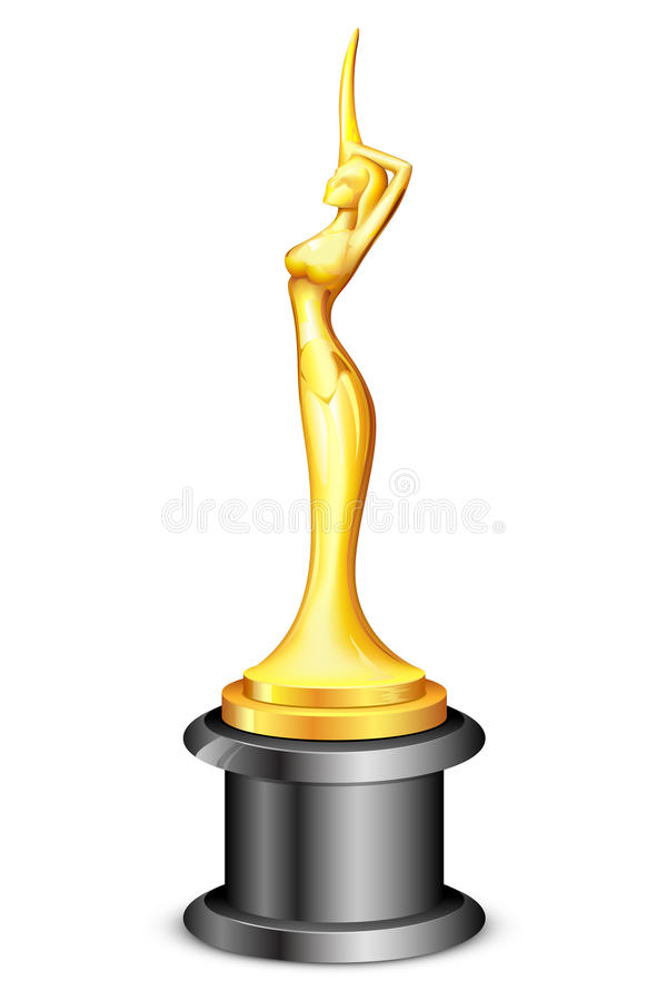 Lady Statue Trophy royalty free illustration