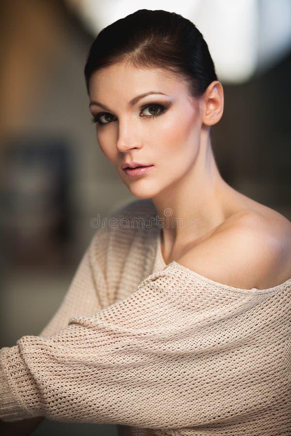 Lady in studio stock image