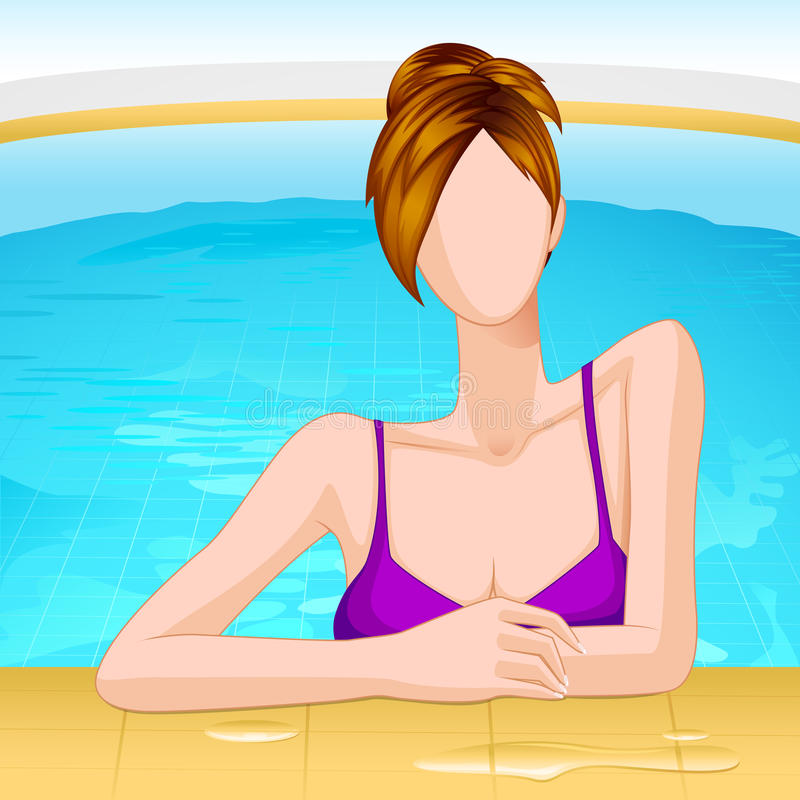 Download Lady in Swimming Pool stock vector. Illustration of lifestyle - 25679537