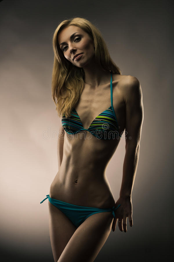 Download Lady in swimsuit stock image. Image of fashion, caucasian - 24792261