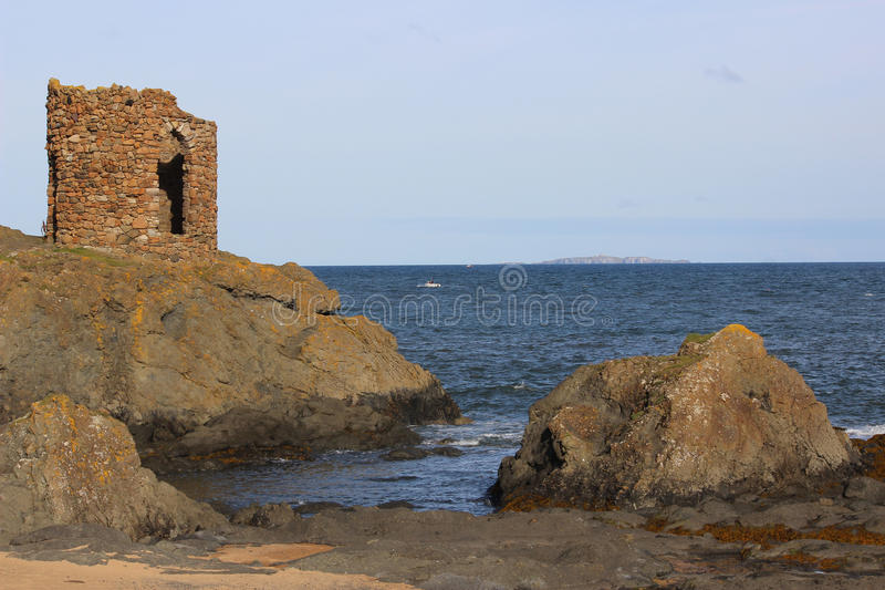 Lady Tower and Isle of May, Firth of Forth, Fife royalty free stock photography