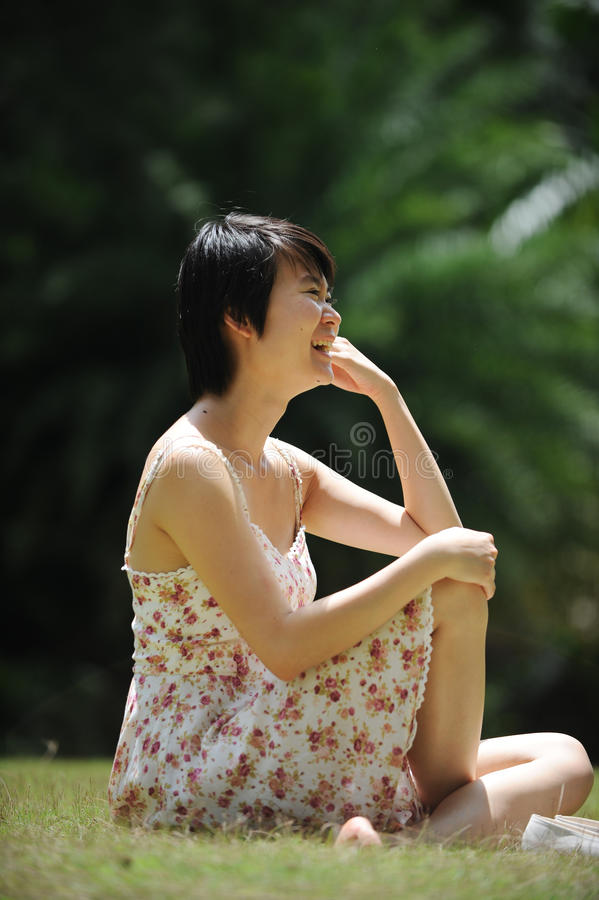 Download Lady under the sun stock photo. Image of happy, happiness - 27343904