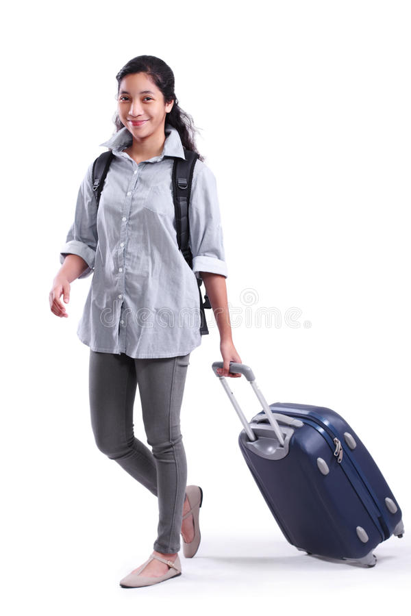 Lady On Vacation Stock Photo