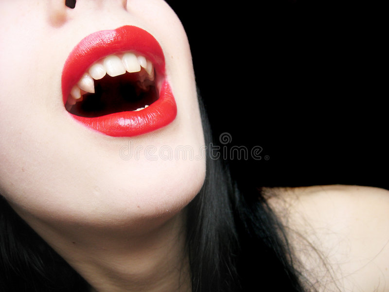 Lady-vamp royalty free stock image