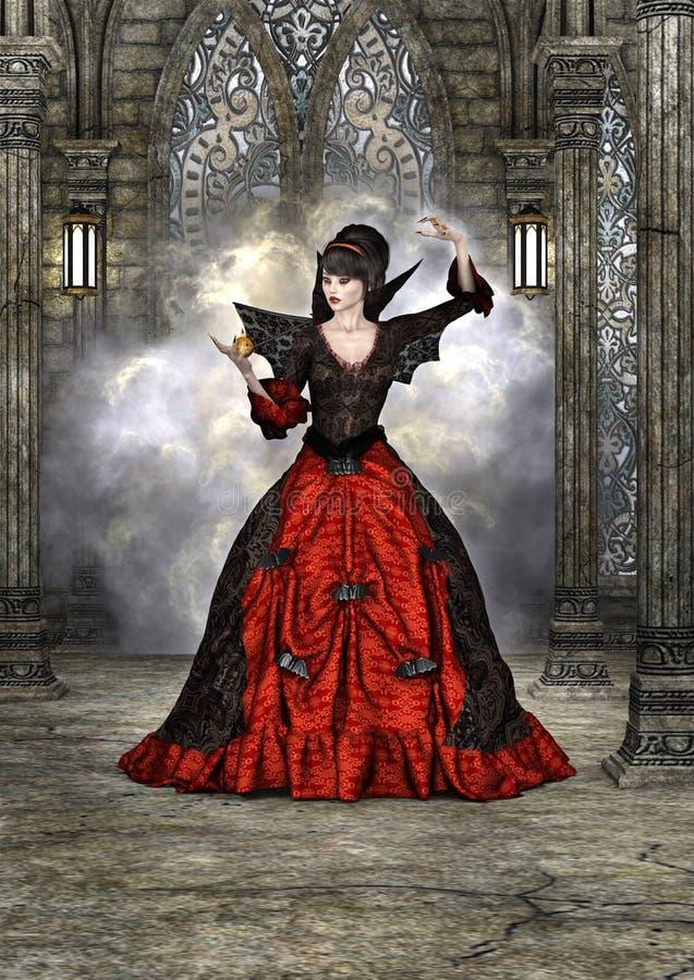 Lady Vamp stock illustration