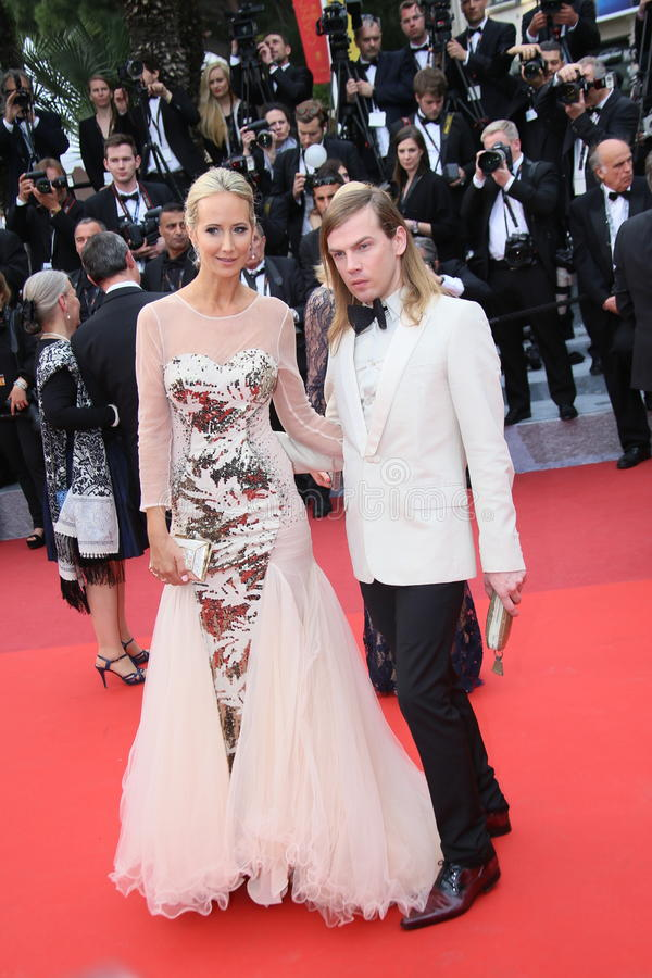 Lady Victoria Hervey and Christophe Guillarme stock image