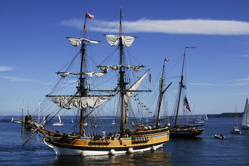 Download Lady washington stock photo. Image of moorage, ship, sailing - 1269542