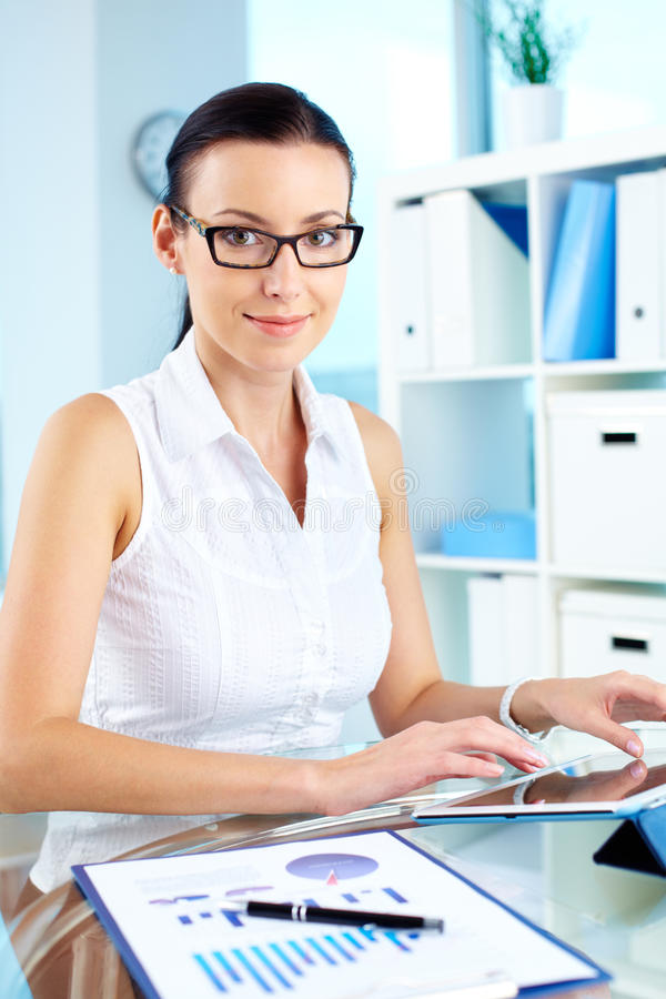 Lady At Work Stock Photography