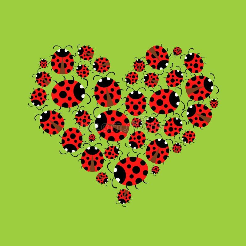 Ladybags heart royalty free stock photos