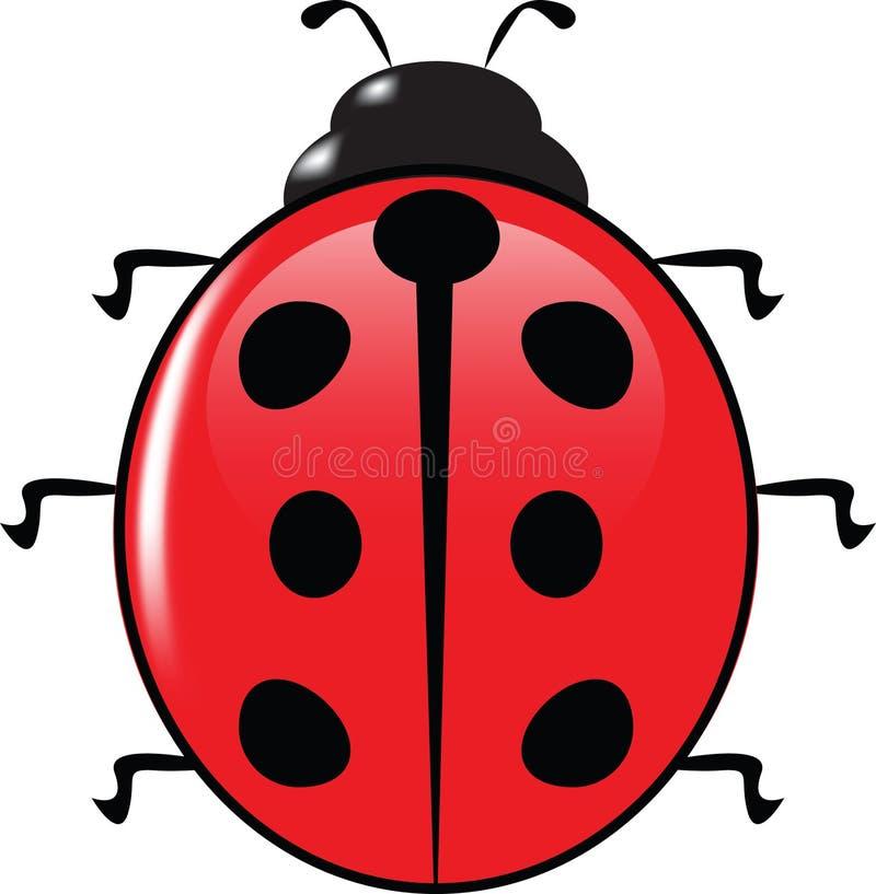 Ladybird illustration stock