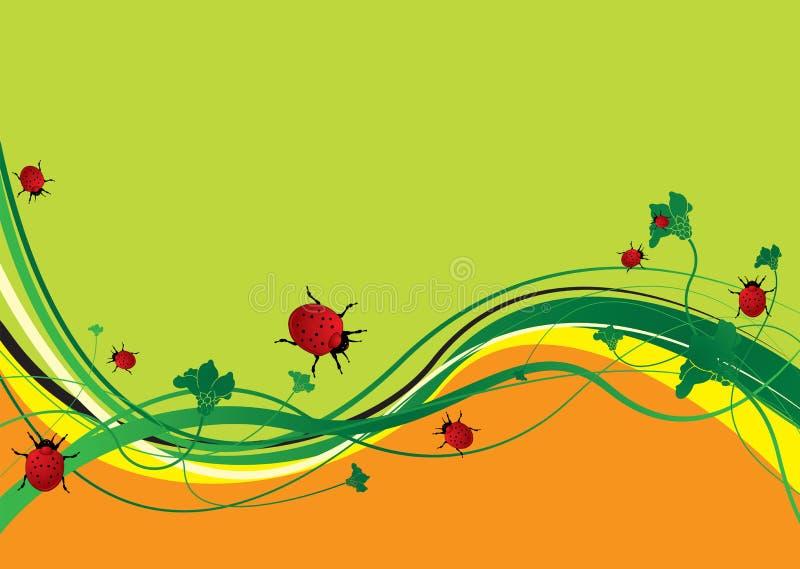 Ladybird field stock illustration