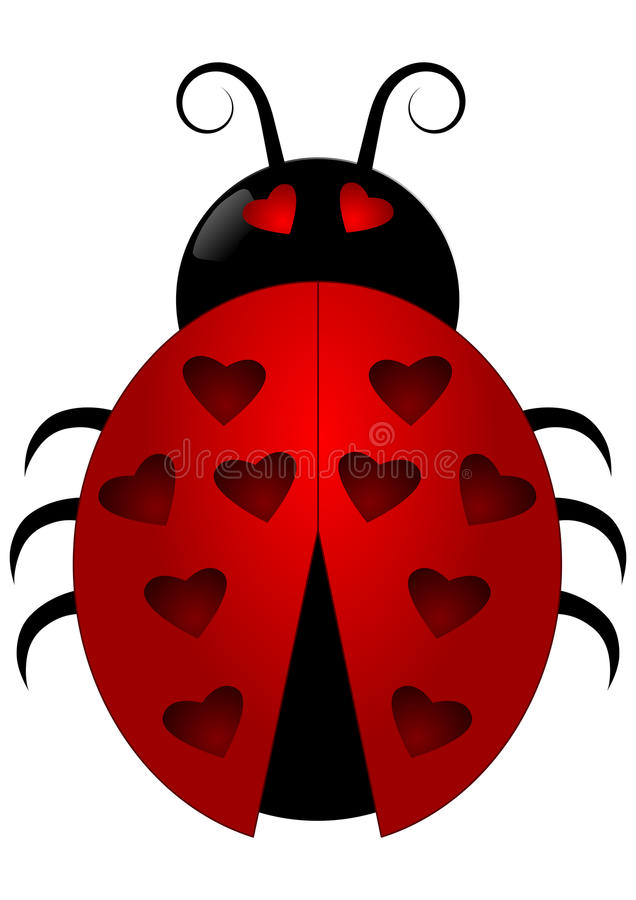 Ladybird with heart spots royalty free stock images