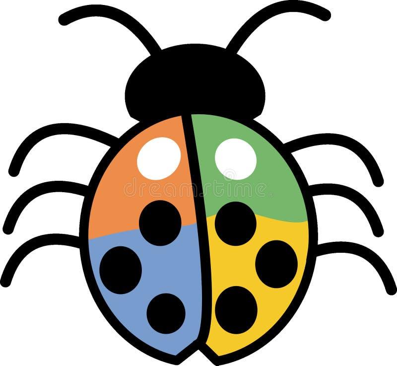 Ladybird, invertebrato, clipart, insetto fotografia stock