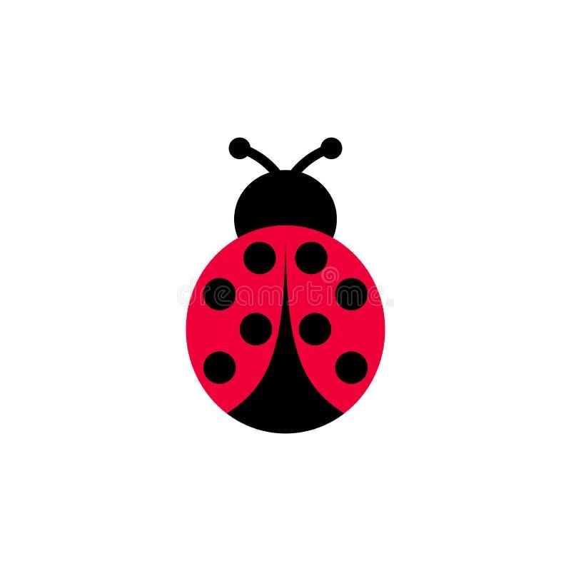 Ladybird kreskówki wektorowa ikona Biedronki clipart symetryczna kreskówka ilustracja wektor