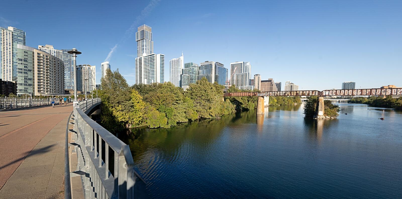 Ladybird Lake, Austin, Texas fotos de stock