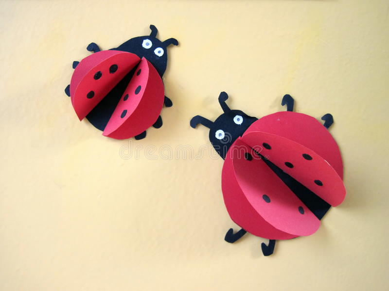 Ladybird, paper cutting royalty free stock photos