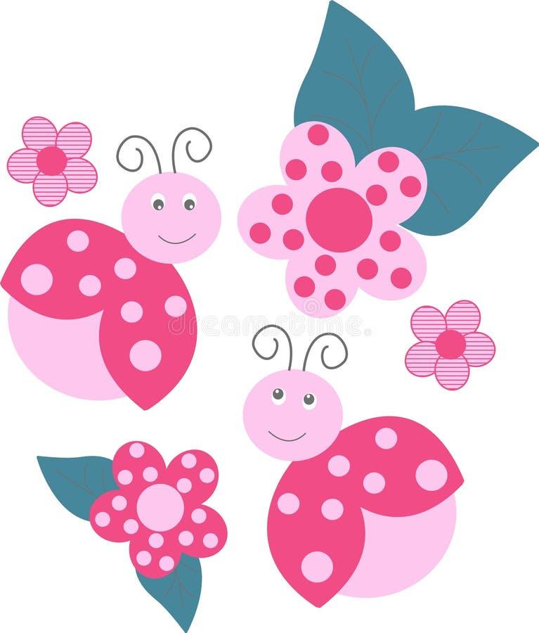 Ladybird pattern vector illustration