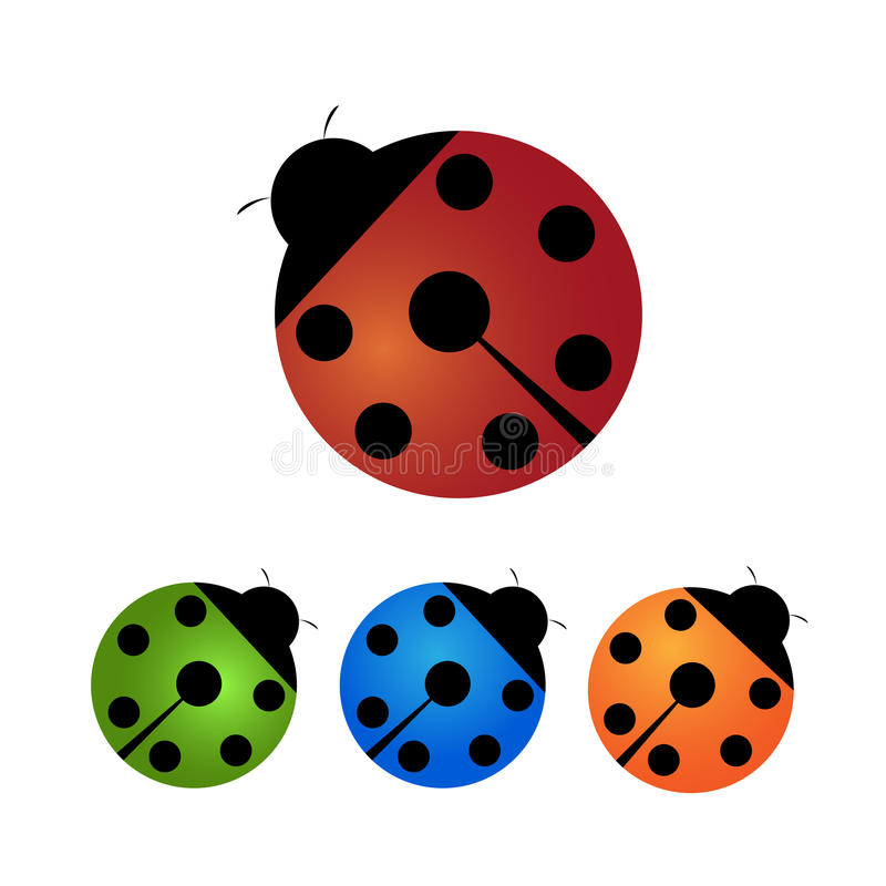 Download Ladybirds stock vector. Illustration of spotted, four - 13346656