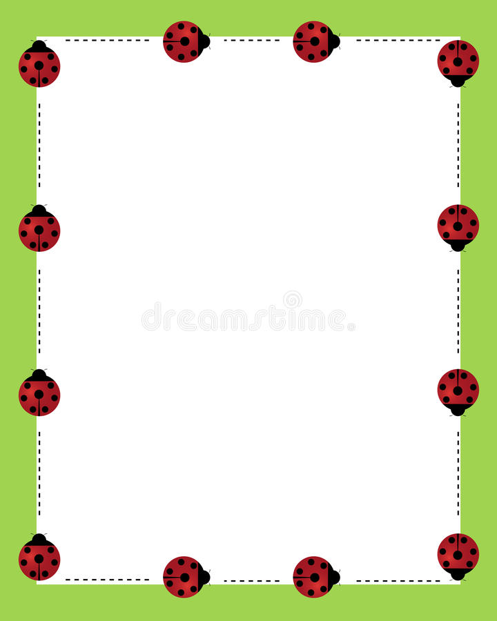 Download Ladybirds borders frame stock vector. Illustration of frame - 13835079