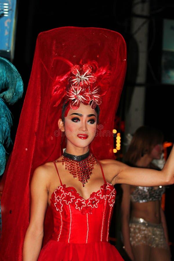 Ladyboy, Tailândia. fotografia de stock royalty free