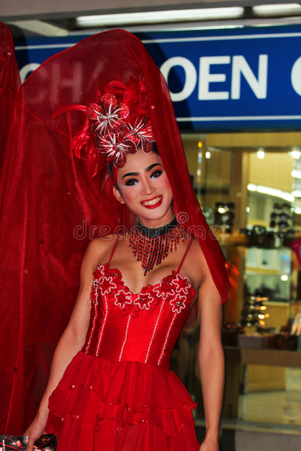 Ladyboy, Thailand. stockfoto