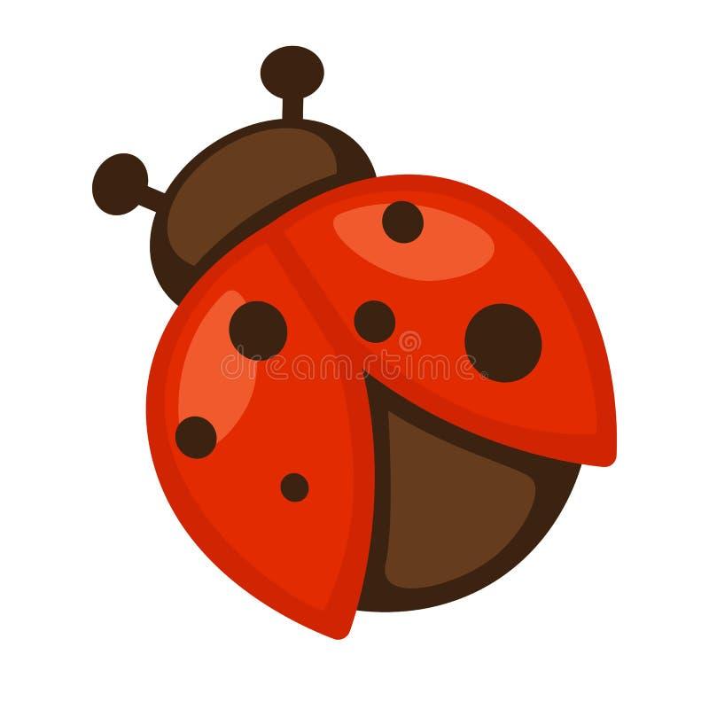 LadyBug [02] Ícone do inseto pequeno brilhante ilustração stock