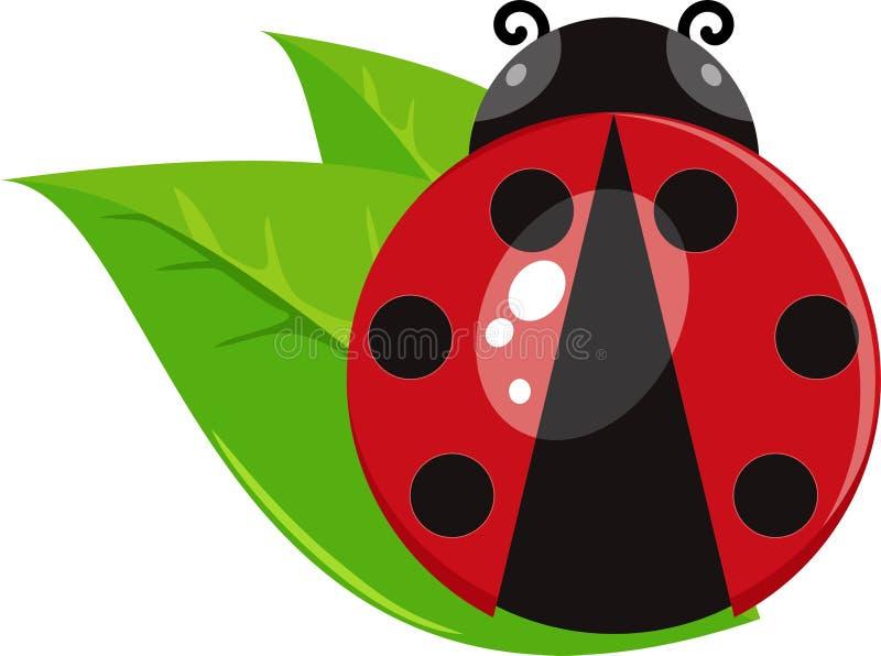 Ladybug значка вектора иллюстрация вектора