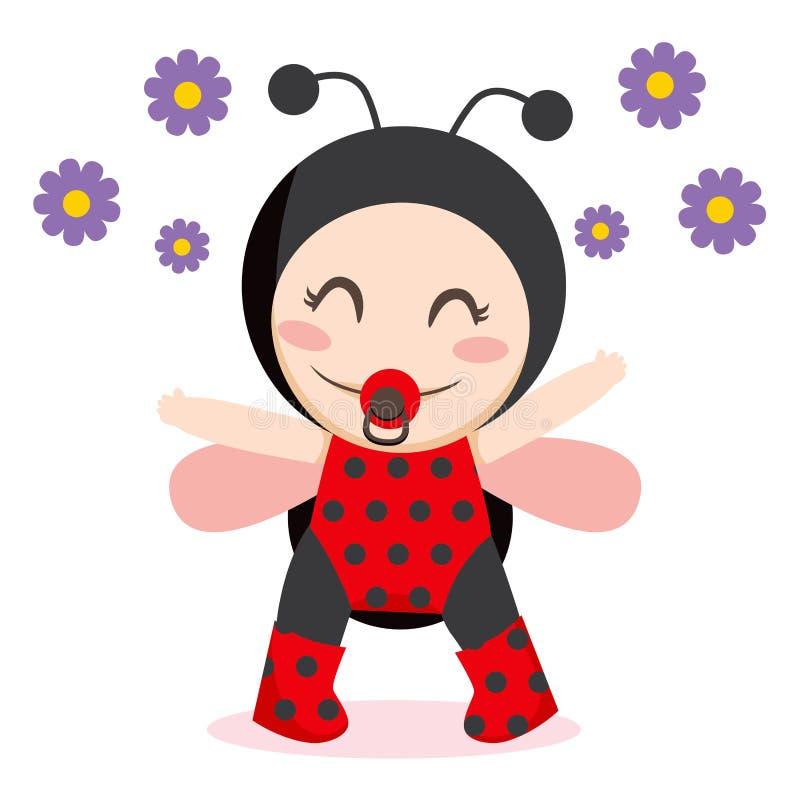 ladybug младенца иллюстрация вектора