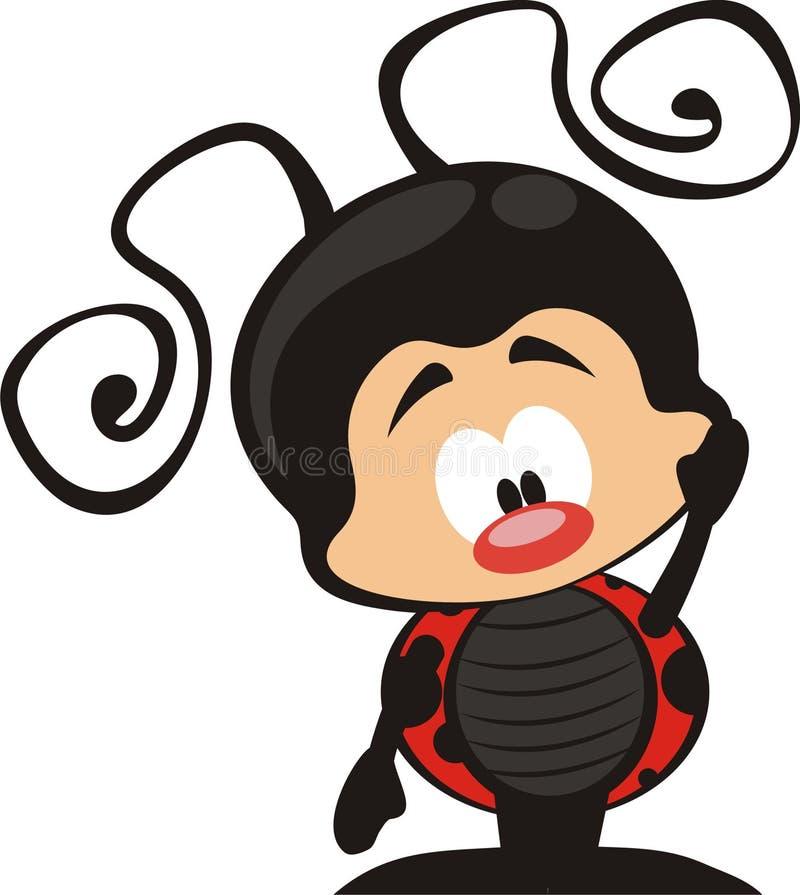 ladybug шаржа иллюстрация штока