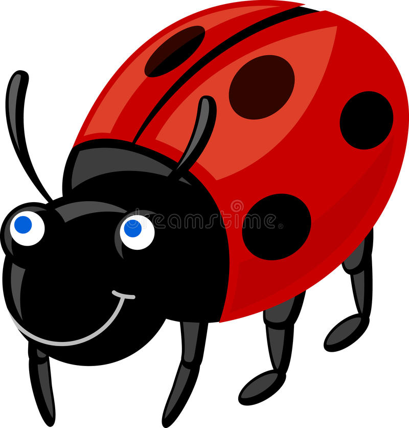 Download Ladybug stock vector. Image of dotted, cute, insect, vector - 22802333