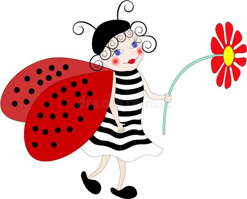 Ladybug ilustração stock