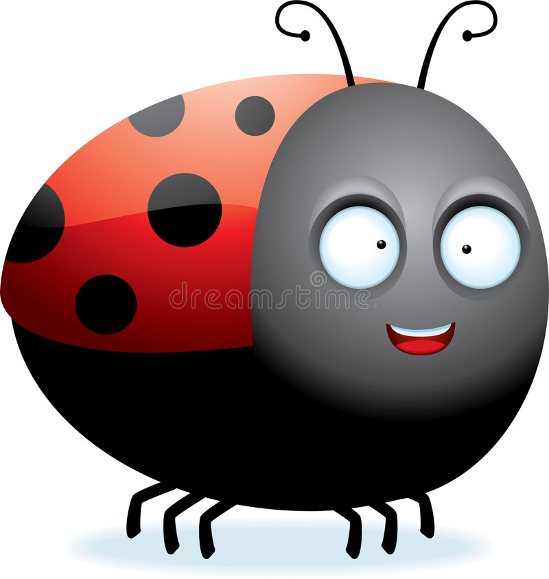 Download Ladybug stock vector. Image of cartoon, insect, black - 9067094