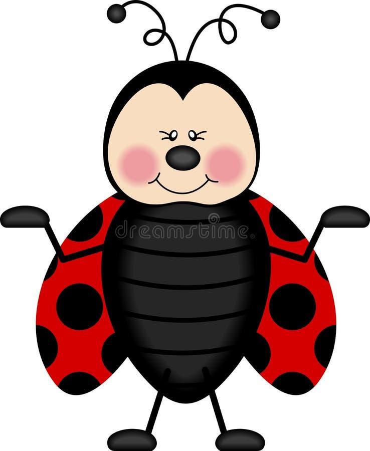 Ladybug allegro illustrazione di stock
