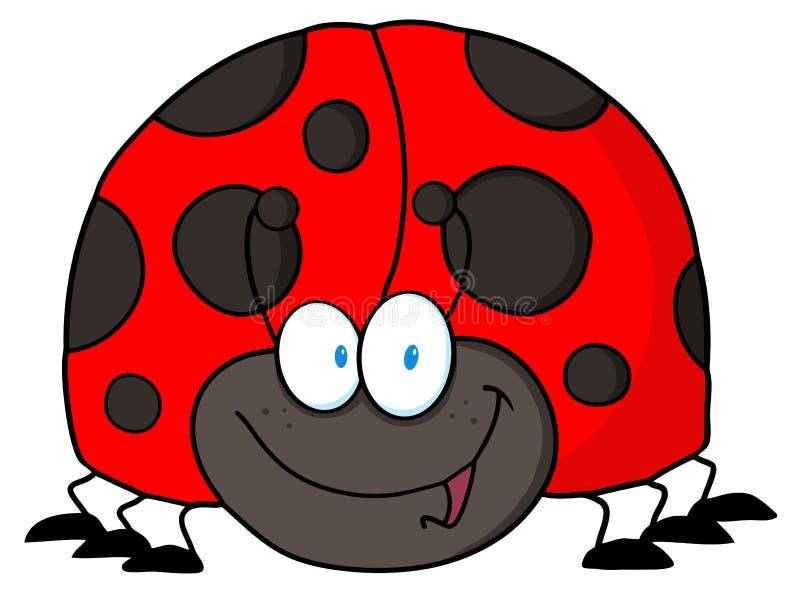 Ladybug amichevole illustrazione di stock