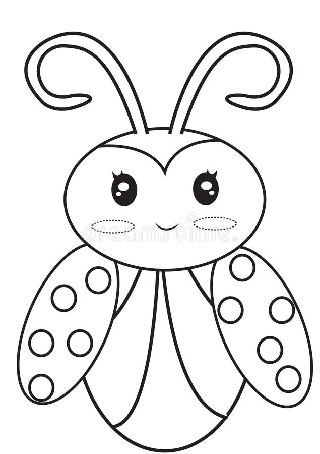 Ladybug coloring page stock illustration. Illustration of colors ...