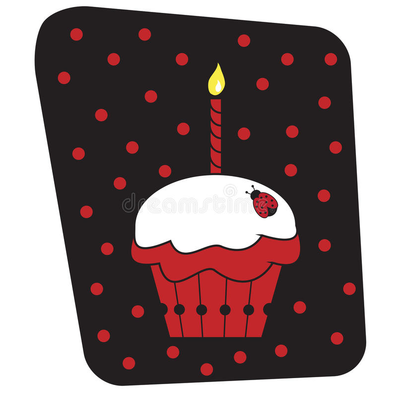 Ladybug Cupcake royalty free illustration