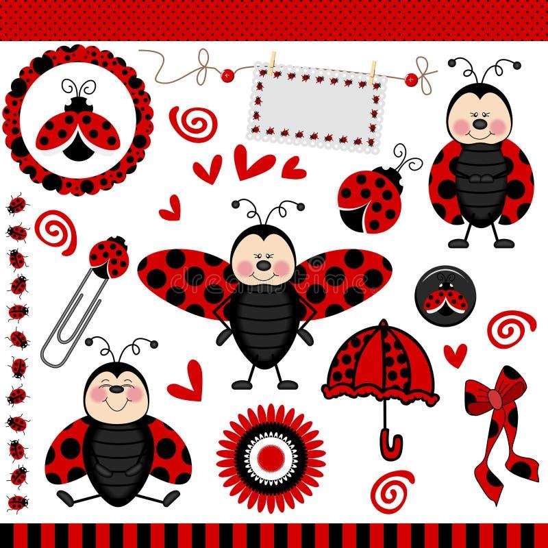 Ladybug Digital Scrapbook royalty free illustration