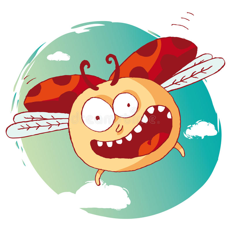 Ladybug divertente royalty illustrazione gratis