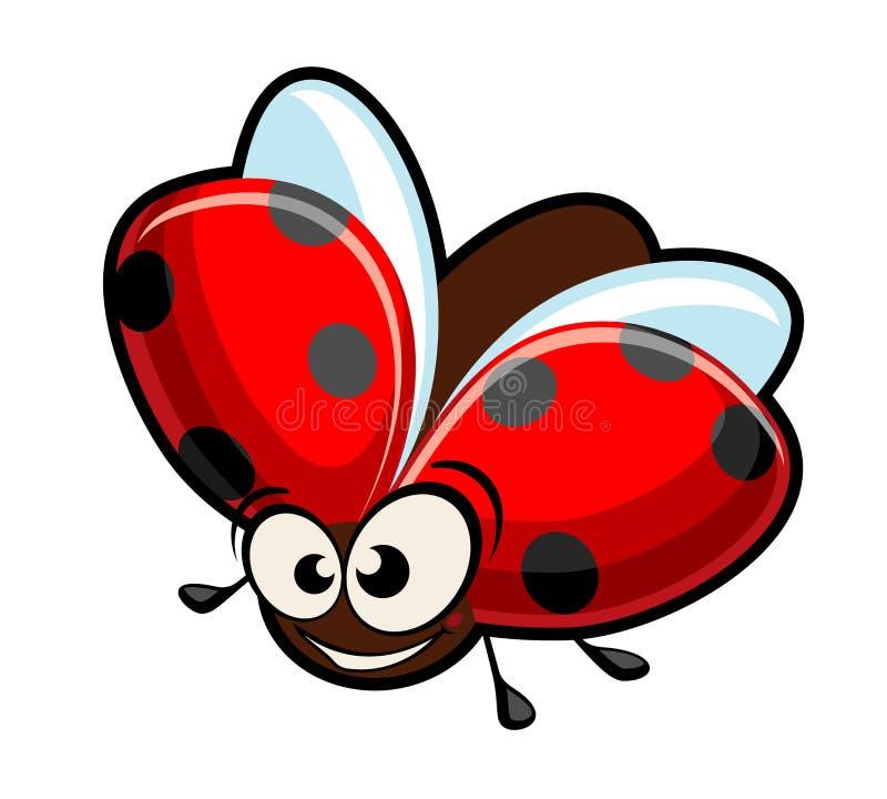 Ladybug engraçado dos desenhos animados ilustração stock