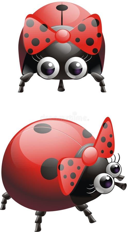 Ladybug f ilustração do vetor