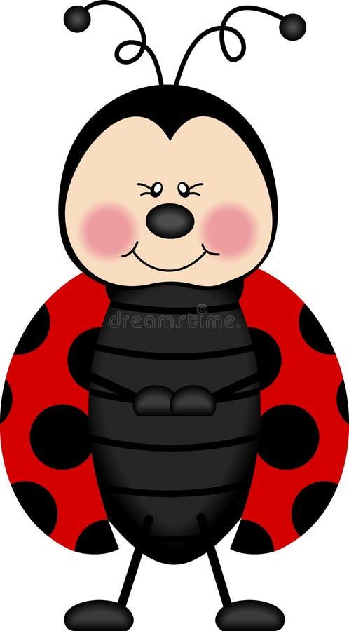 Ladybug felice royalty illustrazione gratis