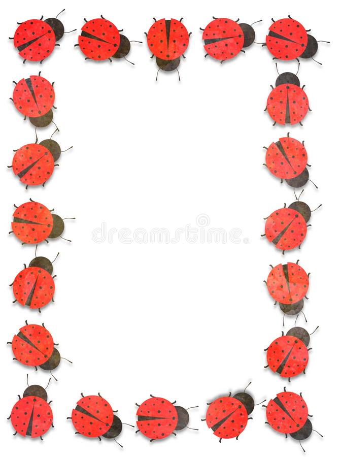 Ladybug Frame. Illustrated frame made of many Ladybugs vector illustration