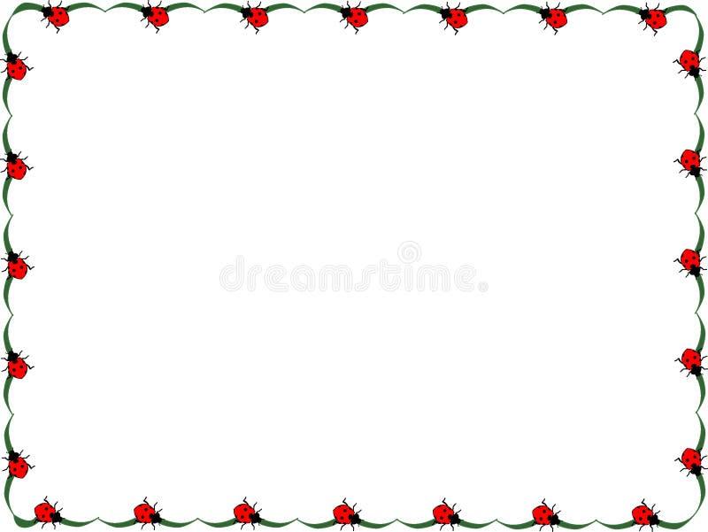 Ladybug frame stock vector. Illustration of background - 95265590