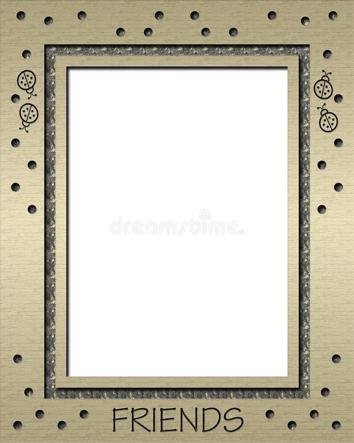 Ladybug Gold Frame royalty free illustration