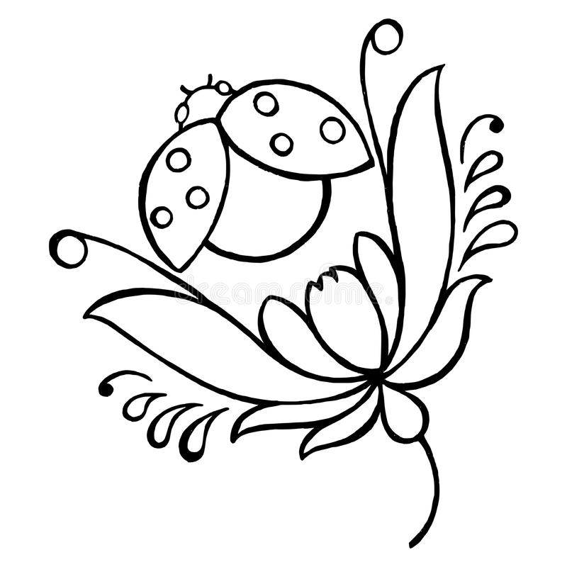 Download Ladybug stock vector. Illustration of floral, ladybug - 31229219